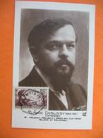Carte Maximum France 1940 N° 462 Au Profit Des Chômeurs Intellectuels - Claude Debussy Compositeur - Maximumkaarten
