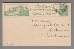Schweiz GS Bildpostkarte Zu#82.019 übereinstimmend Solothurn 1923-10-11 - Entiers Postaux
