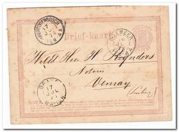 Briefkaart Verzonden Naar Venray, Met Stempels Boxmeer 18 Jul 71, Grave 17 Jul 71, S'Hertogenbosch 17 Jul 71 - Periode 1852-1890 (Willem III)