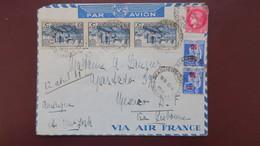 Lettre De Beaulieu Sur Dordogne Correze Pour Mexico Mexique Avril 1941  Affr. 18 Fr - Marcophilie (Lettres)