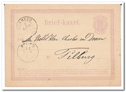 Briefkaart Verzonden Naar Tilburg, Met Stempels Boxmeer 2 Apr 71, Tilburg 3 Apr 71 - Periode 1852-1890 (Willem III)