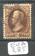 EUA Scott 146 Dark Reddish Brown Very Fine YT 40 Used - Used Stamps