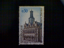 France, Scott #1185, Used, 1967, French Scenes, City Hall, Saint Quentin, 50cts, Blue, Slate, And Brown - Oblitérés