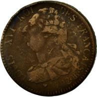 Monnaie, France, Louis XVI, 2 Sols, 1792, Strasbourg, TB, Bronze, Gadoury:24 - 1789-1795 Monnaies Constitutionnelles