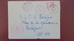 Lettre En Franchise Militaire  Service Renseignements Aux Familles De Toulon Cachet Poste Navale Novembre 1944 - Marcophilie (Lettres)