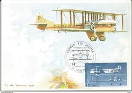 FRANCE Poste Aérienne 57 FDC Carte Postale Rare Avionneur FARMAN Avion F60 GOLIATH Type II - FDC