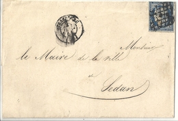 France Pli 1851 Cérès 25 Cts - 1849-1850 Cérès