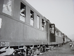 Très Belle Photo Ancienne Turquie Train Gare Locomotive Express Adama  ! Tampon Du Photographe - Stations With Trains