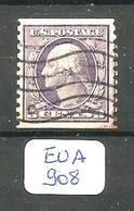 EUA YT169L  Dentelé 10 Vert. Obl - Used Stamps