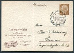 1938 Germany Deutsche Bremen Bremerhaven Schiffspost Ship Stationery Postcard. MS OCEANA. Deutschen Philatelisten Tages - Deutschland