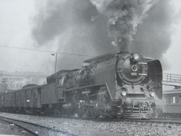 Très Belle Photo Ancienne Turquie Train Gare Locomotive Istanbul  ! Tampon Du Photographe - Stations With Trains