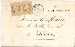 France Pli 1859 Napoléon 10 Cts - 1853-1860 Napoléon III