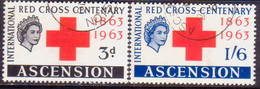 1963 ASCENSION SG #85-86 Compl.set Used Red Cross Centenary - Ascension (Ile De L')