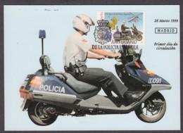 6.- SPAIN ESPAGNE 1999. MAXIMUM CARD. 175 ANNIVERSARY OF SPANISH POLICE. POLICIA. POLIZEI - Policia – Guardia Civil