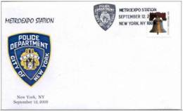 7.- UNITED STATES 2009. SPECIAL POSTMARK. METROEXPO STATION. POLICE DEPARTMENT. CITY OF NEW YORK - Policia – Guardia Civil