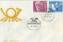 DDR - 23 1 1973 AUFBAU IN DER DDR - FDC: Enveloppes