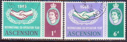 1965 ASCENSION SG #89-90 Compl.set Used Int. Co-operation Year - Ascension (Ile De L')