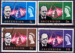 ASCENSION 1966 SG #91-94 Compl.set Used Churchill Commemoration - Ascension