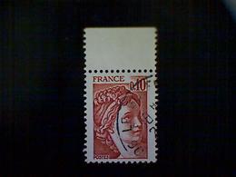 France, Scott #1563, Used, 1977, Sabine (de Gandon), 10cts, Red Brown - France