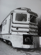 Très Belle Photo Ancienne Ethiopie Ethiopia Train Gare Locomotive  ! Tampon Du Photographe - Stations With Trains