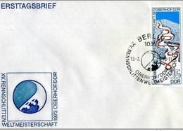 DDR - 13 2 1973 FDC RENNRODEL- WELMASTERSCHAFTEN OBERHOF - FDC: Enveloppes