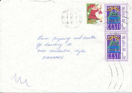Estonia Cover Sent To Denmark 18-12-1994 Also With A TB Christmas Seal - Estonia