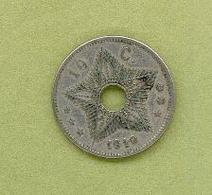 CONGO BELGE 10 Centimes  1910 - Congo (Belge) & Ruanda-Urundi
