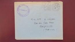 Lettre De La Ferte Sous Jouarre En Franchise Daguin 1940 Cachet Hôpital Complémentaire Bellan Pour Les Ardennes - Marcophilie (Lettres)