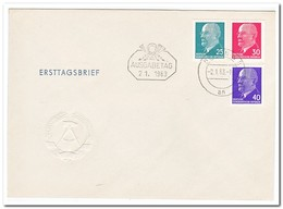 DDR 1963, FDC, 100th Birthday Of Baron Pierre De Coubertin, Olympic Games - FDC: Enveloppes