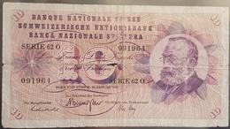 EBN6 Banknote - Switserland 10 Francs, 1969 P-45o - Suisse