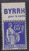 PUBLICITE: TYPE PAIX 65C BLEU BYRRH-pour La Santé NEUF* ACCP963 C10E - Advertising