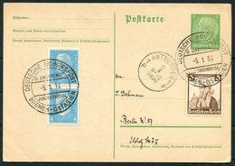 1936 Germany Deutsche Bremen - Ostasien Schiffspost Ship Stationery Postcard. Gneisenau Jungfernreise, Maiden Voyage - Briefe U. Dokumente