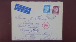 Lettre Decembre 1942 Du Lager Marie A Bitterfeld Pour La Meurthe Et Moselle Cachet De Contrôle - Marcophilie (Lettres)