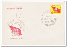 DDR 1963, FDC, Party Congress Of The Socialist Unity Party Of Germany - FDC: Enveloppes