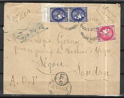 France 08 01 1942 Lettre Pour   Segou A.O.F - France