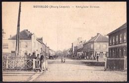 BEVERLOO ( BOURG LEOPOLD ) - KÖNIGLICHE STRASSE  - édit Gotthold Beverloo - Niet Courante Uitgave - Passage A Niveau - Leopoldsburg (Kamp Van Beverloo)