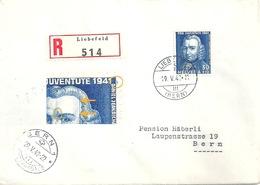 """Lokaler R Brief  """"Institut Zur Erforschung Von Infektionskrankheiten, Liebefeld"""" - Bern              1942 - Svizzera"""