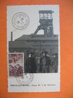 Carte Maximum France 1941 N° 489 Au Profit Des Prisonniers De Guerre -Noeux-Les-Mines Fosse N°1 De Drocourt (surcharge) - Cartes-Maximum