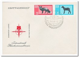 DDR 1963, FDC, Animals, International Tobacco Auctions - FDC: Enveloppes