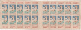 Carnet De Timbres Vignettes Nestle / 1931 / Antituberculeux - Erinnophilie