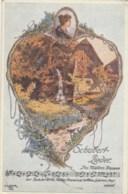 Illustrateur D. Elsner - Schubert-Lieder - Des Mullers Blumen - Künstlerkarten