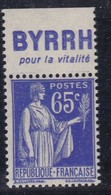 PUBLICITE: TYPE PAIX 65C BLEU BYRRH-pour La Vitalité NEUF** ACCP965 C10E - Advertising