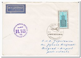 DDR 1964, First Flight Letter From Berlin To Belgrad - [6] Oost-Duitsland