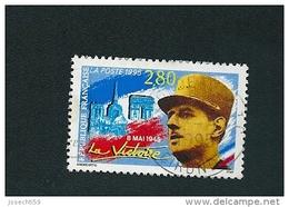 N° 2944 Général De Gaulle Et Monuments De Paris  Oblitéré Timbre  FRANCE 1995 - Oblitérés