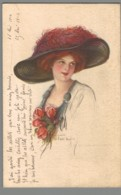 CPA - Illustrateur - Femme Avec Chapeau - Illustrateurs & Photographes