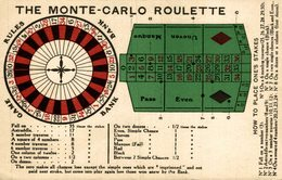 The Monte Carlo Roulette   Advertisement   Advertising. - Publicité
