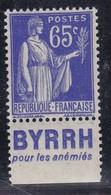 PUBLICITE: TYPE PAIX 65C BLEU BYRRH-pour Les Anémiés NEUF** ACCP970 C10E - Publicités