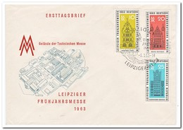 DDR 1963, FDC, Leipzig Spring Fair - [6] Oost-Duitsland