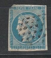TRES RARE Sur Colonie Grande Cassure Du 60A Sur Tous Les Filets BE - 1871-1875 Cérès