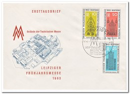 DDR 1963, FDC, Leipzig Spring Fair - FDC: Enveloppes